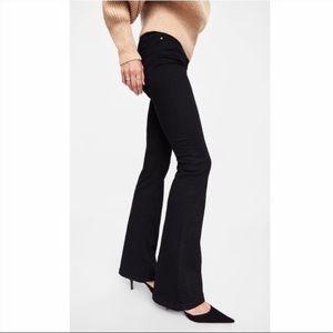 NWT Zara Skinny Flare Jeans in Revolve Black